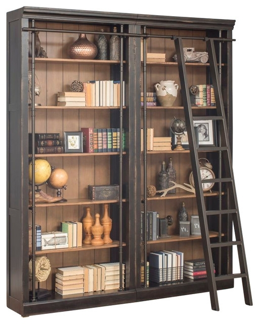 Best And Newest Wall To Wall Bookcases For Martin Furniture – Toulouse 3 Piece Library Bookcase Wall (View 3 of 15)