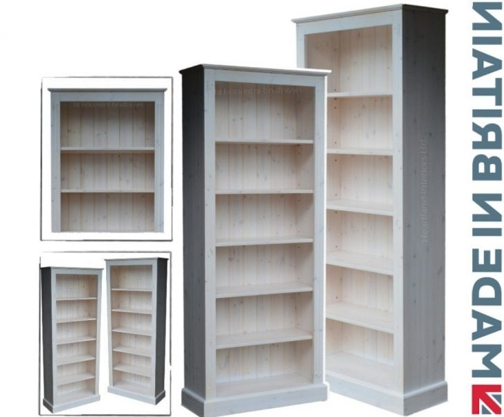 Best And Newest Whitewash Bookcases With Corona White Pine Tall Bookcase Whitewash Furniture: Amazon (View 2 of 15)
