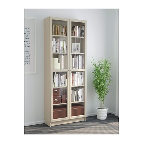 Billy Bookcase With Doors – Beige – Ikea In Trendy Ikea Billy Bookcases (View 3 of 15)
