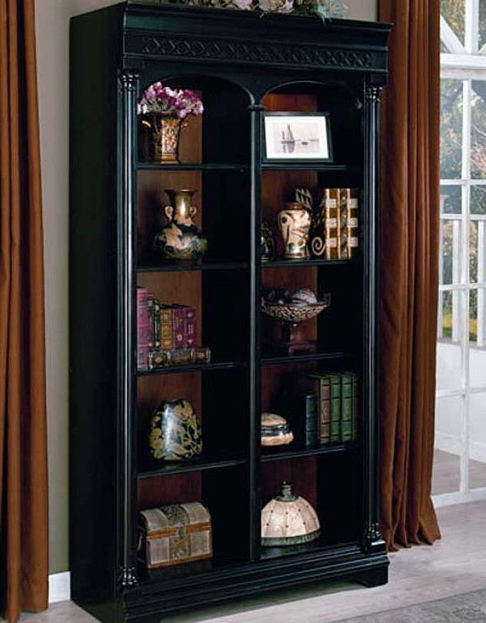 Black Bookcases Pertaining To Best And Newest Solid Wood Bookcases Black Painted Vintage Design Home Black (View 8 of 15)