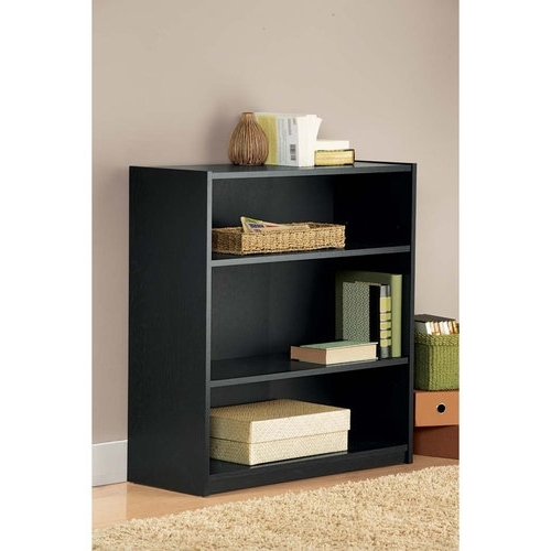 Black Bookcases Walmart In Most Popular Wall Units: Bookshelf Walmart Ideas Bookshelves Lowes, Solid Wood (View 5 of 15)