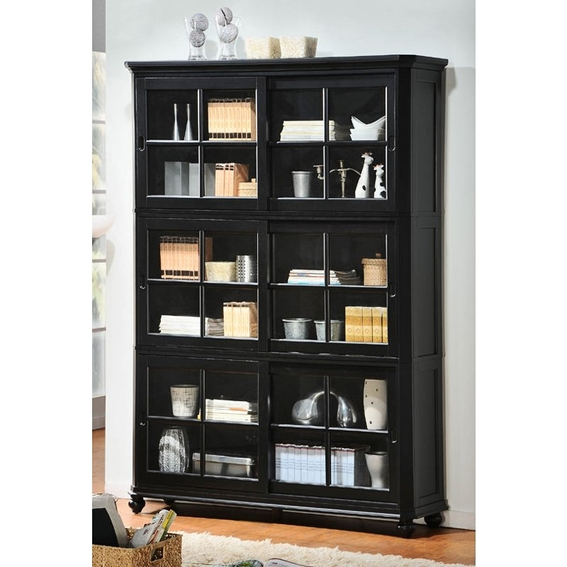Black Bookcases With Glass Doors Inside Most Up To Date Bookcases Ideas: Bookcases With Doors – Free Shipping Bookcases (View 5 of 15)