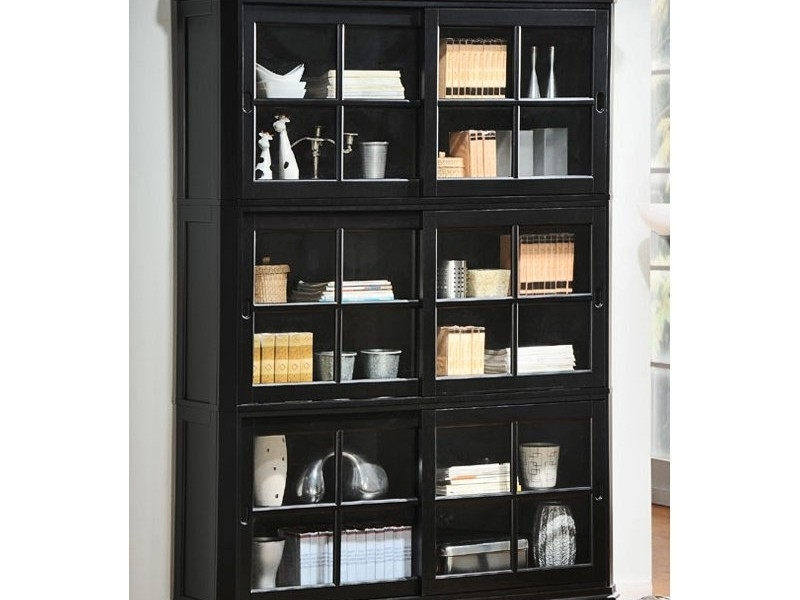 Black Bookcases With Glass Doors Intended For Best And Newest 55 Black Bookcase With Doors, Home Furnishings, Kitchens (View 6 of 15)
