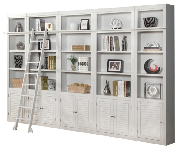 Boca Library Wall Unit, 5 Piece Set – Contemporary – Bookcases In Popular Wall Library Bookcases (View 8 of 15)
