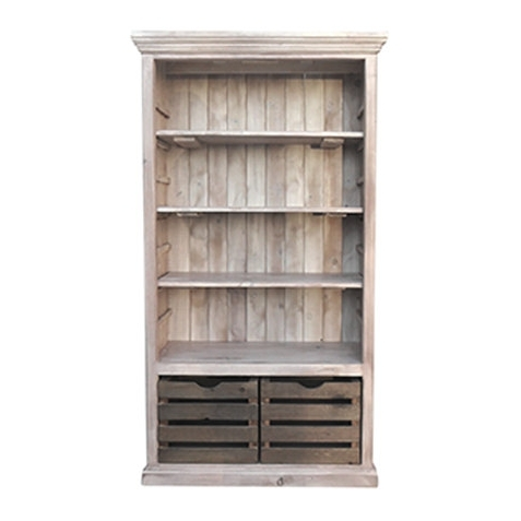 Bookcase Bookshelves Display Cabinet Reclaimed Wood Intended For 2017 Reclaimed Wood Bookcases (View 14 of 15)