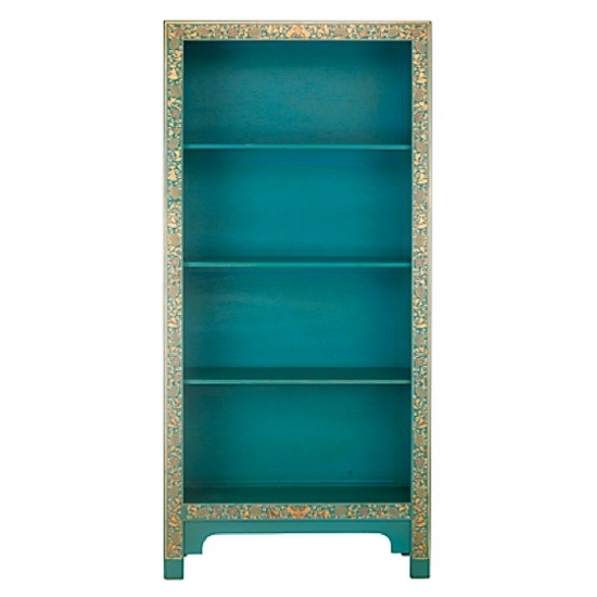 Bookcase Childrens Room, Turquoise Painted Bookshelves Hand For Well Known Hand Painted Bookcases (View 4 of 15)