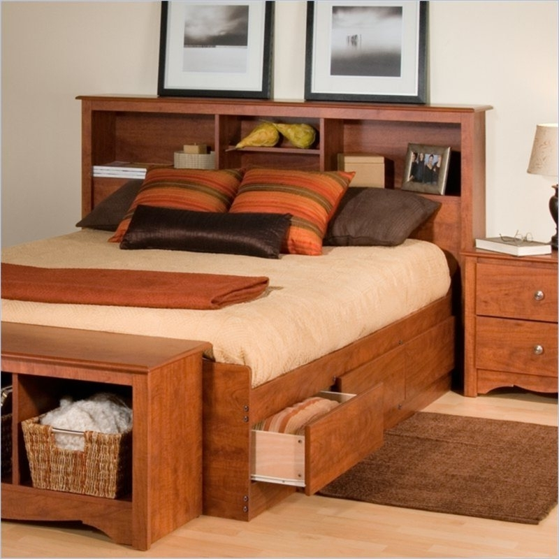 Bookcase Headboard Queen Ideas – Home Improvement 2017 Throughout Most Popular King Size Bookcases Headboard (Gallery 15 of 15)