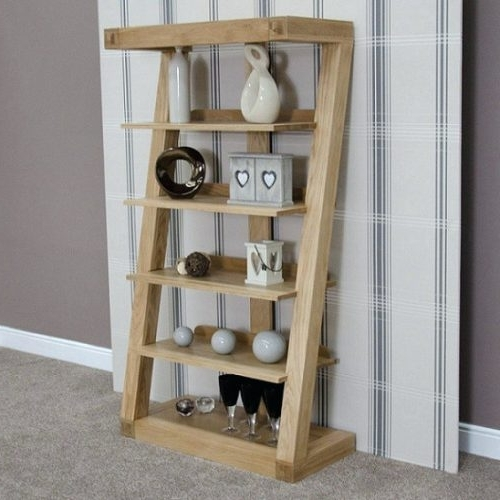 Bookcase ~ Modern Wood Bookshelves Contemporary Oak Bookshelves With 2018 Contemporary Oak Shelving Units (View 3 of 15)