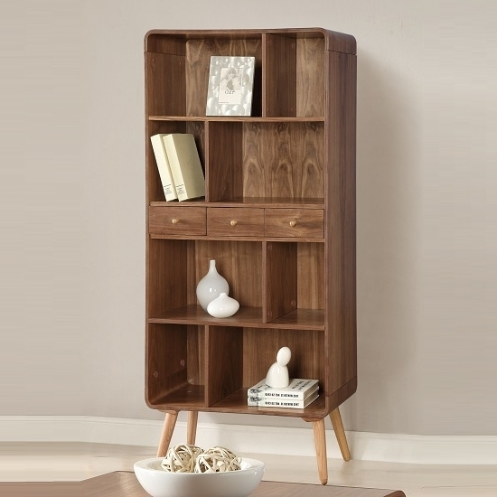Bookcase Walnut Amazing Bookcases In Walnut Bookcase – Portofinos For Most Up To Date Walnut Bookcases (View 2 of 15)