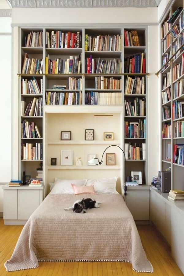 Bookcases Bed In Popular 13 Bedrooms Literature Lovers Would Want To Sleep In (View 4 of 15)
