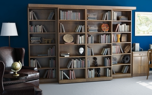 Bookcases Bed Within Fashionable Wall Bed Factory Makes These Sliding Bookcase Doors To Conceal A (View 6 of 15)