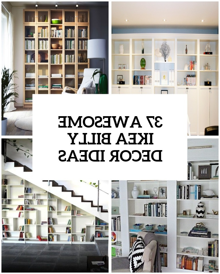 Bookcases Cover Inside Newest 37 Awesome Ikea Billy Bookcases Ideas For Your Home – Digsdigs (View 2 of 15)