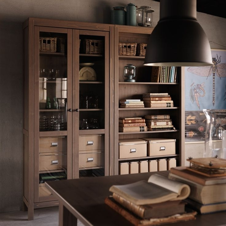 Bookcases Cupboard In Widely Used Beautiful Glass Door Bookcase For Modern Style – Http://sara (View 2 of 15)