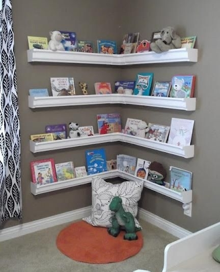 Bookcases For Kids Room Regarding Popular Rain Gutter Bookshelves (View 4 of 15)