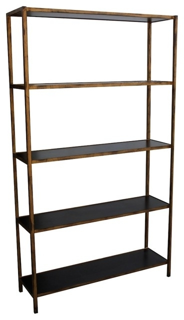 Bookcases Ideas: Adorable Black Metal Bookcase Design Metal Within 2018 Metal Bookcases (View 3 of 15)