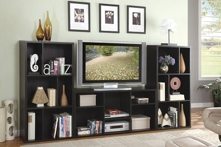 Bookcases Ideas: Bookcase Desk Combo Combination Retractable Tv With Regard To 2018 Book Case Tv (View 9 of 15)