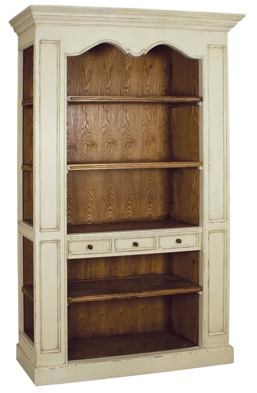 Bookcases » Large Distressed Cream (View 15 of 15)