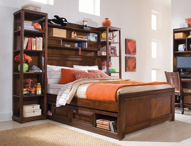 Bookcases Photos Bookcase Bed With Bookshelf Storage Design Full Regarding 2017 Bookcases Bed (View 7 of 15)