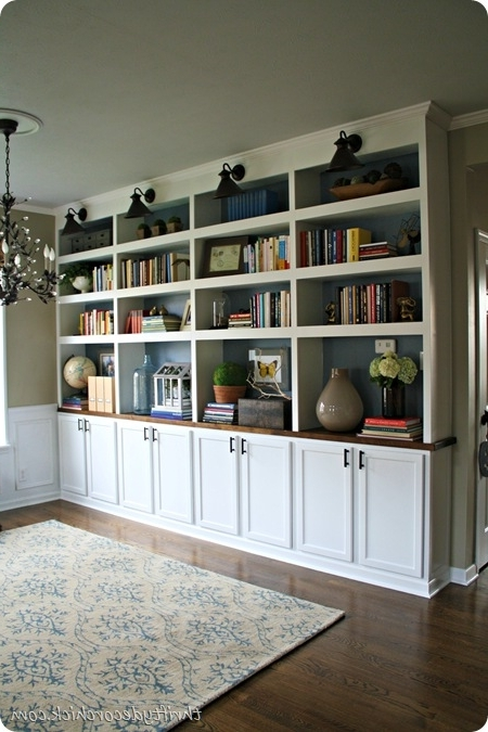 Bookcases With Bottom Cabinets Throughout Current For The Living Room – I Love That It Is Floor To Ceiling And Has (View 6 of 15)