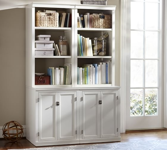 Bookcases With Cupboard Regarding Latest Logan Bookcase With Doors (View 4 of 15)