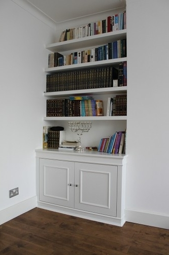 Bookcases With Cupboards Inside Famous Fitted Alcove Cupboards And Bookshelves, Bespoke Cabinets (View 4 of 15)
