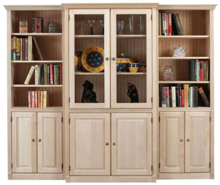 Bookcases With Doors Inside Widely Used Unfinished Bookcases With Doors Bookcase Ideas Inside Design  (View 4 of 15)