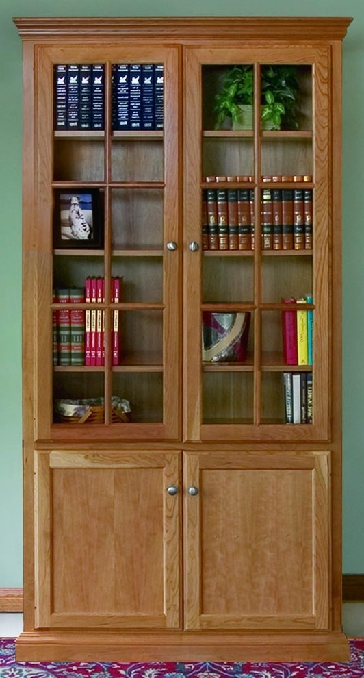 Bookcases With Doors On Bottom For Most Recently Released Custom Woodcraft Bookcase Options (View 2 of 15)