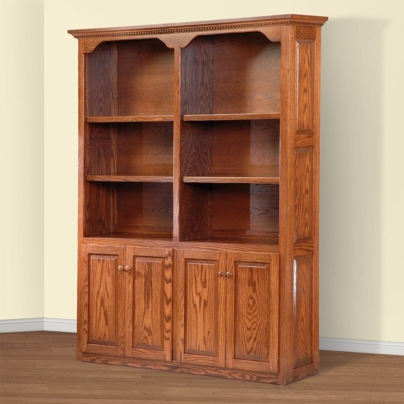 Bookcases With Doors On Bottom Within Recent Bookcases Ideas: Wood Bookcases With Doors Design Barrister (View 7 of 15)