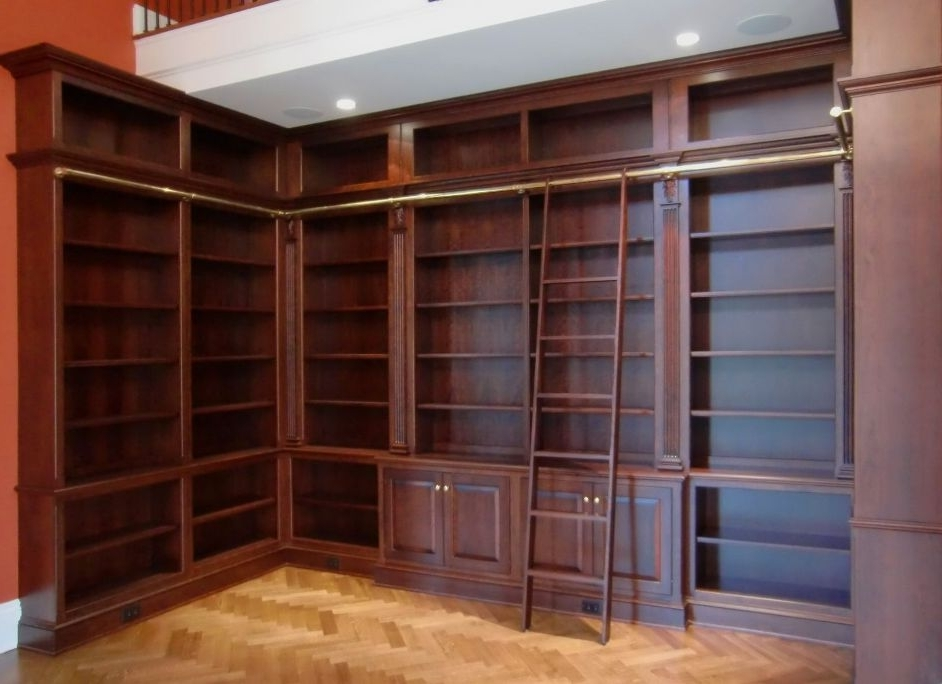 Bookcases With Ladder And Rail Throughout Most Popular Bookcase With Ladder Plans : Doherty House – Bookcase With Ladder Rail (View 2 of 15)