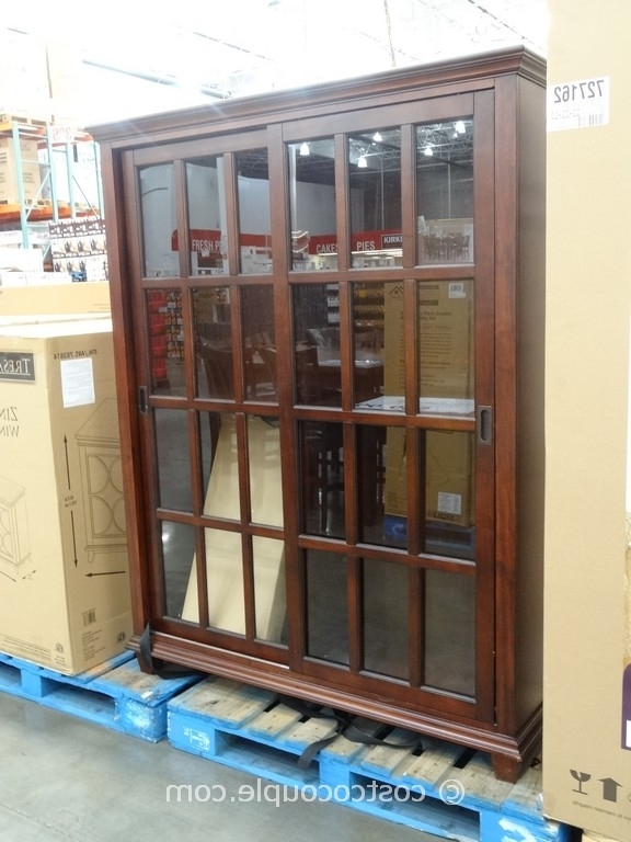 Bookcases With Sliding Glass Doors Throughout Most Current Pulaski Chelsea Sliding Door Bookcase Costco (View 4 of 15)