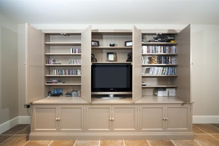 Bookcases With Tv Intended For Widely Used Gorgeous Design Ideas Bookcase With Tv  Unit Wall Units Amusing Stand Ikea Classic Tv Doors Open (View 4 of 15)