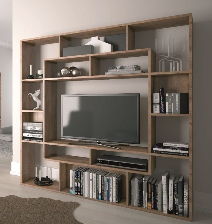 Bookcases With Tv Space For 2018 Remarkable Tv Bookcase Unit Bookshelf Stand Combo Wooden Shelves (View 2 of 15)