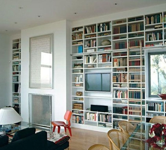 Bookcases With Tv Space With Widely Used Picture Frame Around Flat Screen Tv (View 6 of 15)