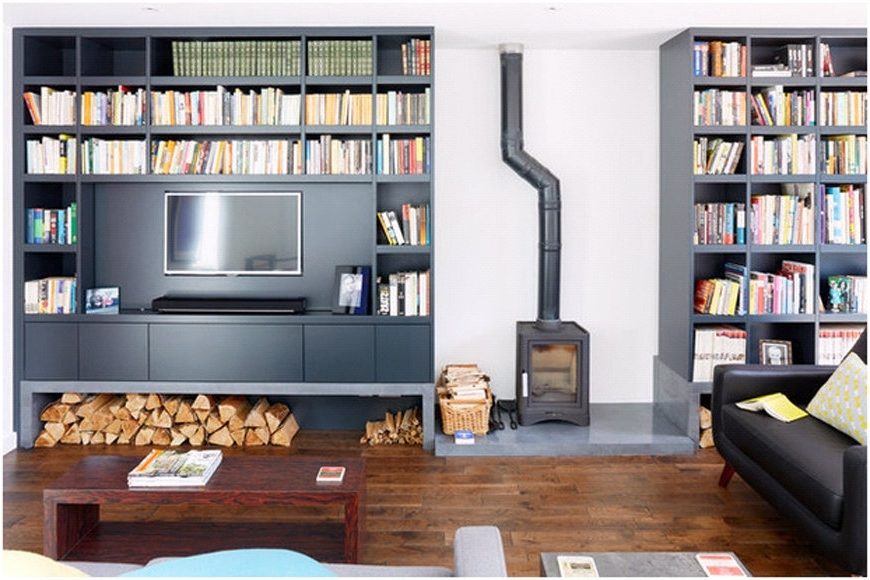 Bookcases With Tv Space Within Recent Bookshelf With Tv Space Bookcases With Tv Elegant New Design (View 7 of 15)