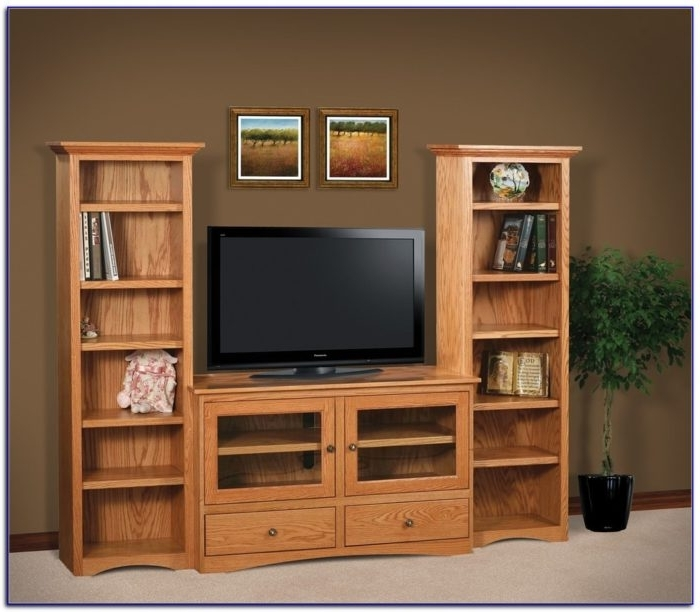 Bookcases With Tv Stand Throughout Most Up To Date Popular Living Rooms Tv Stand Bookcase Combo Pertaining To (View 6 of 15)