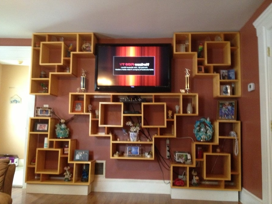 Bookcases With Tv Stand With Most Up To Date Wall Units (View 8 of 15)