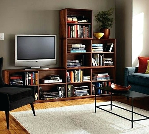 Bookcases With Tv Stand With Well Known Adorable Amusing Bookcase Tv Stand With Matching Bookcases (View 13 of 15)