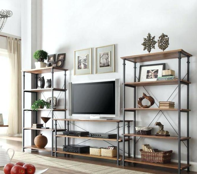 Bookshelf Tv Stand Combo Pretty Design Ideas Bookcase With Unit Throughout Current Tv Bookcases Combination (View 4 of 15)