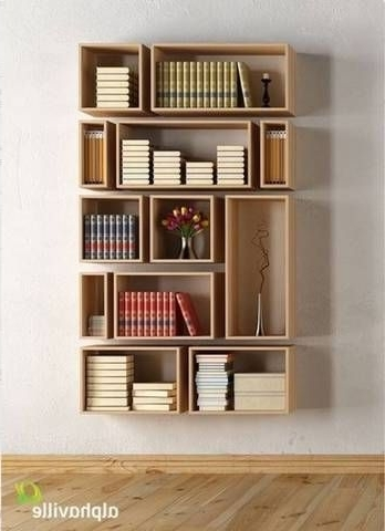 Bookshelves Designs For Home Intended For Most Up To Date 14 Best Diy Bookshelves Images On Pinterest (View 4 of 15)