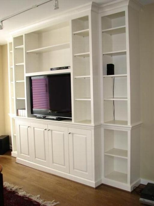 Bookshelves With Cabinet Base Throughout Newest Built In Bookcase Wall Units (View 9 of 15)