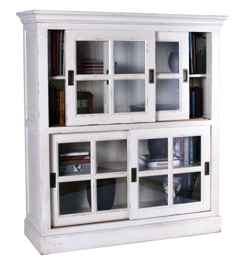 Bookshelves With Sliding Door Glass Door Bookshelves Timeless Intended For Fashionable Bookcases With Sliding Glass Doors (View 5 of 15)