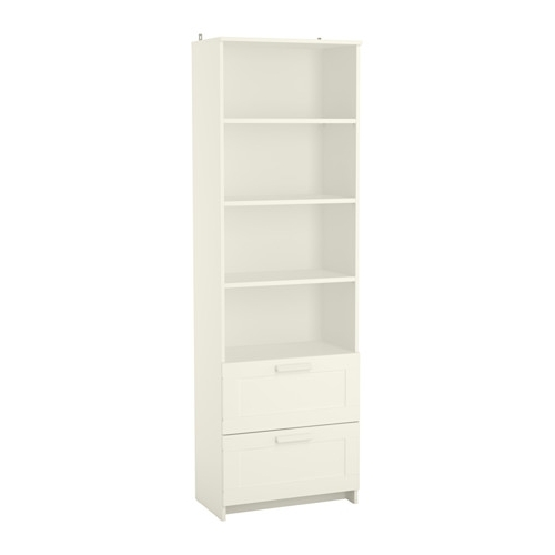 Brimnes Bookcase – White – Ikea Intended For Newest Bookcases With Drawers On Bottom (View 7 of 15)