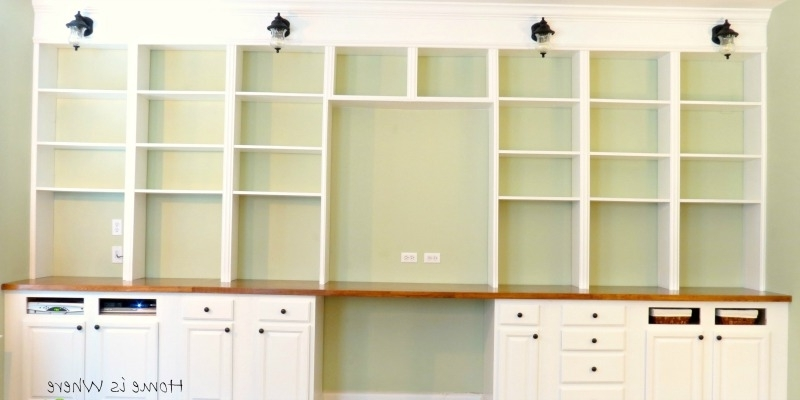 Build A Wall To Wall Built In Desk And Bookcase (View 3 of 15)