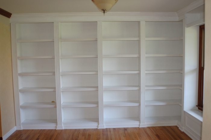 Build Bookcases Wall Within Most Recent How To Build A Bookcase Wall Unit # (View 7 of 15)