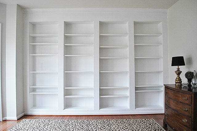 build built in bookcases regarding preferred diy built in custom bookshelves using ikea billy bookcases hack - How To Make Built In Bookshelves