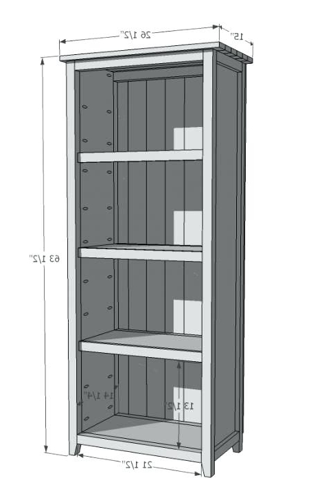 Building A Simple Bookshelf Figure A Bookcase Building A Simple For Preferred Large Bookcases Plans (View 5 of 15)