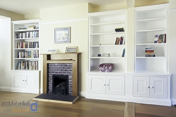 Built In Alcove Cupboards Storage For Your Living Room Intended For Fashionable Handmade Cupboards (View 14 of 15)