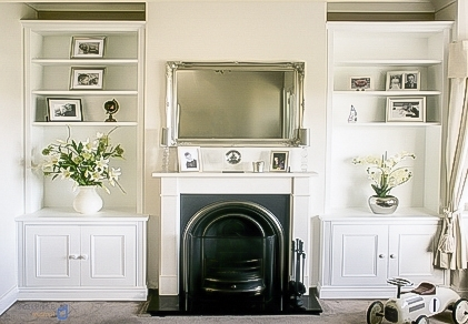 Built In Alcove Cupboards Storage For Your Living Room With Famous Handmade Cupboards (View 6 of 15)
