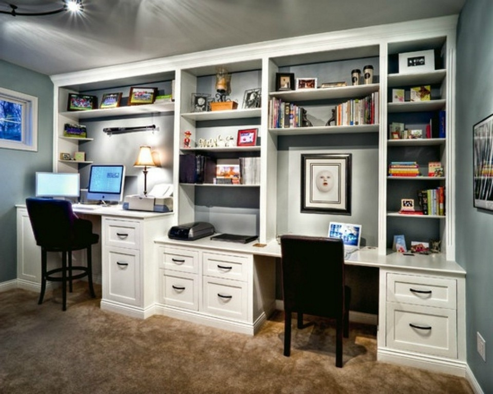 Built In Bookcase With Desk Ideas Inside Well Liked Desk With Matching Bookcases (View 5 of 15)