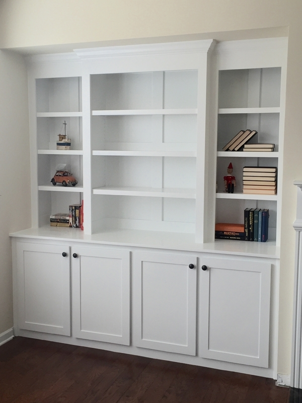 Built In Bookcase With Lights – Diy Projects Inside Built In Bookcases (View 3 of 15)